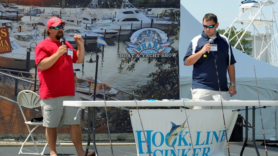 Wharf Boat Show with Pensacola Fishing Charters Captains